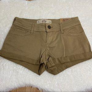 Hollister Junior Short Shorts Beige Size 0 W24